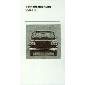 VW 411, L, Automatik, Betriebsanleitung
