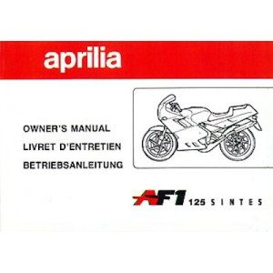Aprilia AF1 125 Sintesi Betriebsanleitung
