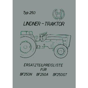 Lindner Bauernfreund BF 250 N, A, GT, Ersatzteilkatalog