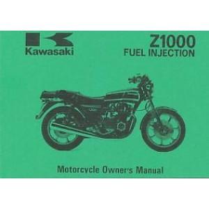 Kawasaki Z 1000 Fuel Injektion, Betriebsanleitung, Owners Manual