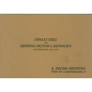 Fross-Büssing Ketten-Lastwagen Typ II P., Ersatzteilkatalog