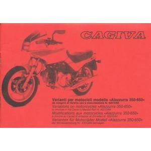 Cagiva Alazurra 350-650 Zusatz-Betriebsanleitung
