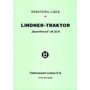 Lindner Bauernfreund LW 20 N, Ersatzteilkatalog