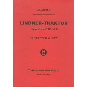 Lindner BF 14 N Betriebsanleitung und Ersatzteilkatalog