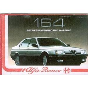 Alfa Romeo 164, Betriebsanleitung