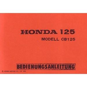Honda CB 125, Betriebsanleitung