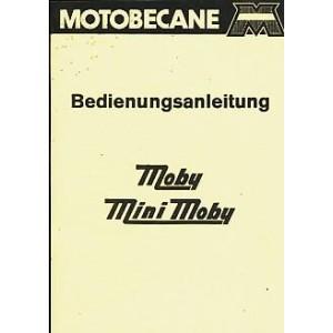 Motobecane Moby und Mini-Moby, Betriebsanleitung