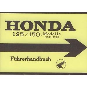Honda C 92, C 95 mit 125/150 ccm, Betriebsanleitung