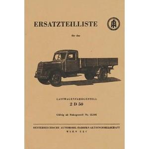 ÖAF Lastwagenfahrgestell 2 D 50, Ersatzteilkatalog