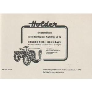 Holder A 12 Cultitrac Allradschlepper, Ersatzteilkatalog