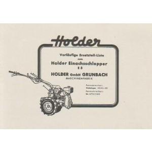 Holder E 5 Einachsschlepper, Ersatzteilkatalog