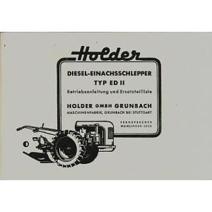 Holder ED II Betriebsanleitung und Ersatzteilkatalog