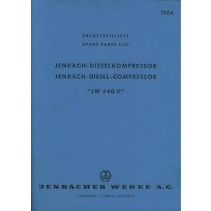Jenbach Dieselkompressor JW 440 K Ersatzteilkatalog