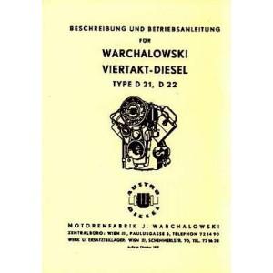 Warchalowski D21, D22, Traktor-Motor, Betriebsanleitung und Ersatzteilkatalog