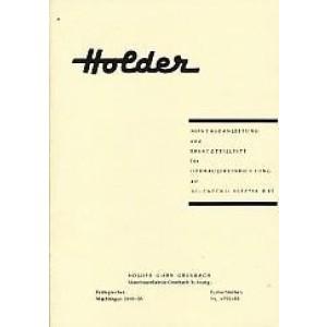 Holder B 12 Allzweckschlepper, Hydraulikanlage, Montageanleitung und Ersatzteilliste
