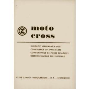 CZ 125, 250, 360, 380 Moto Cross, 984/05, 984/03, 980/01, 980/07, 969/01, 981/01, 981/04 Übereinstimmung der Ersatzteile
