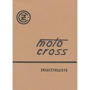 CZ Moto Cross 125, 250, 400 ccm, Typen 984.5, 980.7, 981.4, Ersatzteilkatalog
