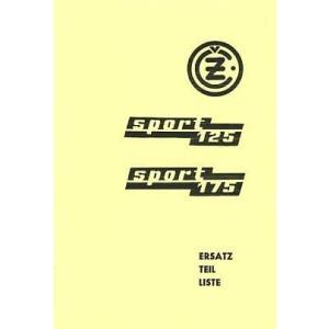 CZ Sport 125/175, Typ 476/01 u. 477/01 Ersatzteilkatalog
