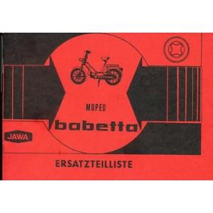 Jawa Moped Typ 207 / 100 Babetta, Ersatzteilkatalog