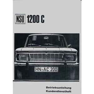 NSU 1200 C, Betriebsanleitung