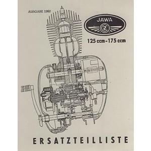 Jawa 125 u. 175 ccm, Ersatzteilkatalog
