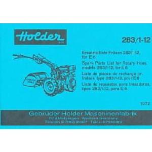 Holder Fräse 283/1-12, für E 6, Ersatzteilkatalog