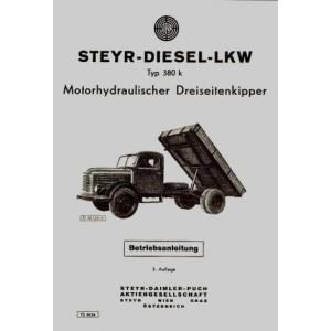 Steyr 380 K - Zusatz-Betriebsanleitung für die Kippanlage