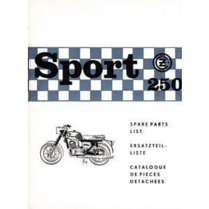 CZ Sport 250, Typ 471/00 Sport, originaler Ersatzteilkatalog