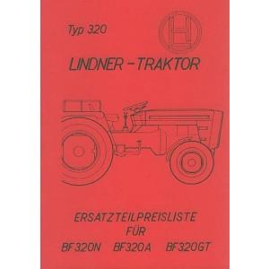 Lindner BF 320 N, BF 320 A, BF 320 GT, Ersatzteilkatalog