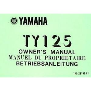 Yamaha TY 125, Betriebsanleitung
