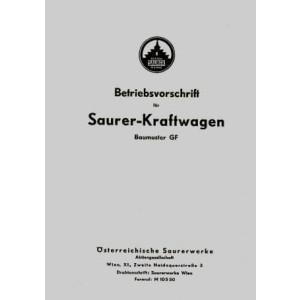 Saurer GF (Österreich), kombinierte Betriebsanleitung und Ersatzteilkatalog