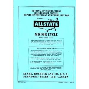 Allstate 150A - Owners Manual, Repair Manual, Spare-parts Catalog