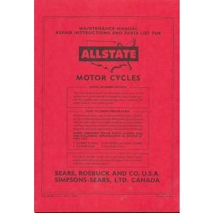 Allstate 250 MC, Moto Cross - Owners Manual, Repair Manual, Spare-parts Catalog