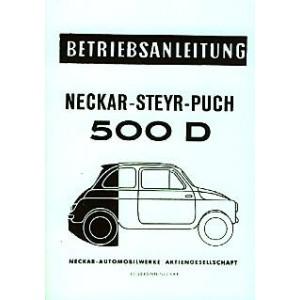 NSU Neckar Steyr-Puch 500 D Betriebsanleitung