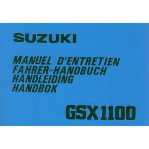 Suzuki GSX 1100, Betriebsanleitung