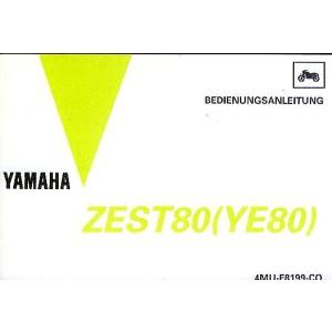 Yamaha ZEST 80 (YE 80), Betriebsanleitung