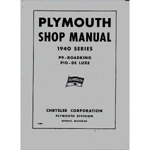 Plymouth P9 - Roadking, P10 - De Luxe - 1940 Series - Reparaturanleitung