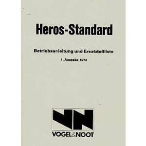 Vogel & Noot Heros-Standard Pflug für Traktor, Betriebsanleitung und Ersatzteilkatalog