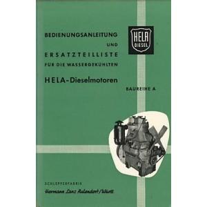 Hela (Hermann Lanz) Ackerschlepper 20/22 PS, Baureihe A, Betriebsanleitung und Ersatzteilkatalog