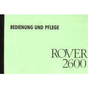Rover 2600 Betriebsanleitung