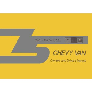Chevrolet Chevy Van, Owner's and Driver's Manual