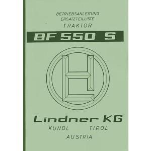 Lindner BF 550 S (550 SN, 550 SA), Betriebsanleitung und Ersatzteilkatalog
