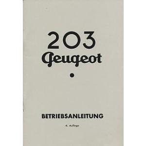 Peugeot 203, Betriebsanleitung