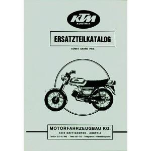 KTM Motorfahrzeugbau Comet Grand Prix, Ersatzteilkatalog