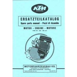KTM Motorfahrzeugbau 175, 250, 400, Ersatzteilkatalog