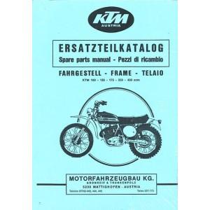 KTM Motorfahrzeugbau 100, 125, 175, 250 und 400 ccm Geländemodelle, luftgekühlt, Ersatzteilkatalog, Fahrgestelle