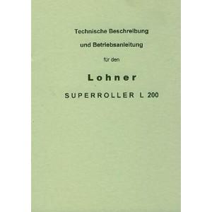Lohner Superroller L 200 – Betriebsanleitung