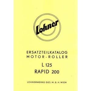 Lohner L 125, Rapid 200, Ersatzteilkatalog