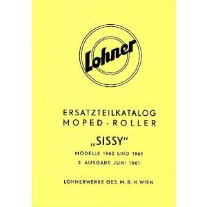 Lohner Moped-Roller Sissy, Modelle 1960/61, Ersatzteilkatalog