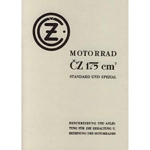 CZ 175 Standard und Spezial, Betriebsanleitung